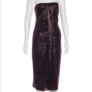 DVF Piaza Cuvet Purple Sequin Formal Dress
